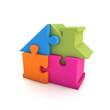 Puzzle house built