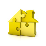 Puzzle house yellow