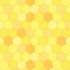 Honeycomb seamless pattern, vector