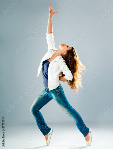 young and beautiful dancer posing