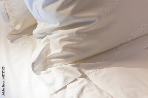 Bed with fresh linen