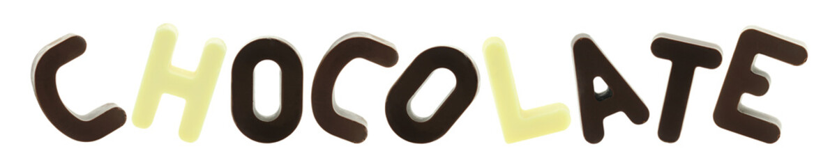 Happy chocolate letters