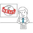 Geschäftsmann, Nachrichtensprecher, News