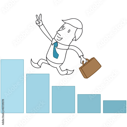 Geschäftsmann, Erfolg, Karriere, Handzeichen, Victory
