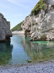 Stiniva bay of the island Vis in Croatia