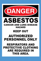 Asbestos Sign Warning of Danger