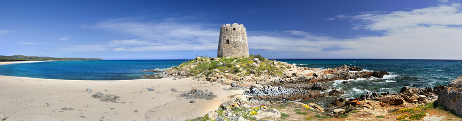Panoramic view of Barisardo (Sardinia,Italy)