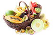 Variety of Exotic Fruits in a Basket