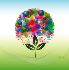 Ballon colored eco tree