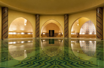 Hamam of Hassan II Mosque in Casablanca Morocco