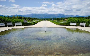 Fountain outside Reggia di Venaria near Turin, Italy