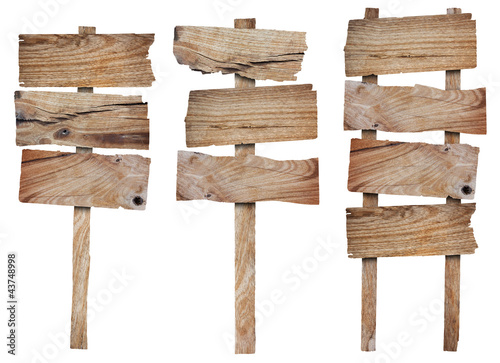 Collection of wooden sign and signboard