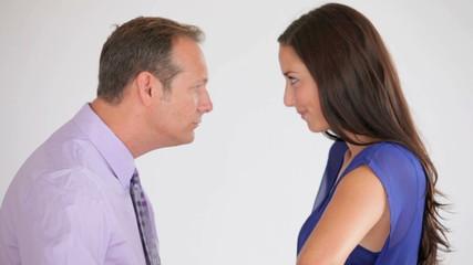 Couples staredown