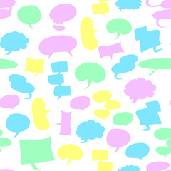 seamless speech bubbles