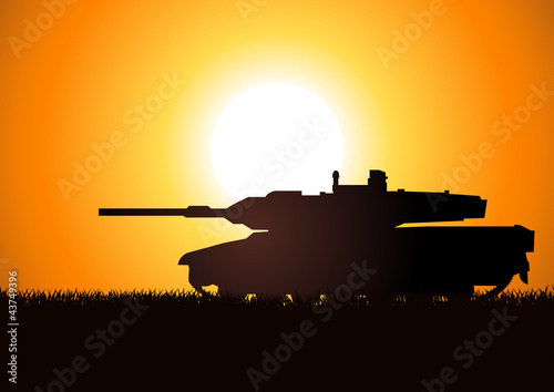 Silhouette illustration of a heavy artillery
