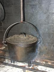 cuisine à l'ancienne au feu de bois