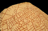 Famous runic inscription from the 9th century, Sweden