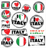 I love ITALY ink rubber stamp set