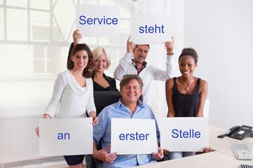 Service steht an erster Stelle
