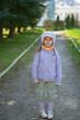 Girl-preschooler in full-length