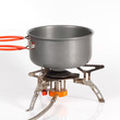 pot on camping stove