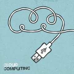 Cloud computing concept, vector illustration. EPS10