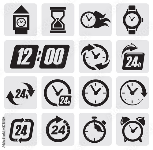 clocks icons