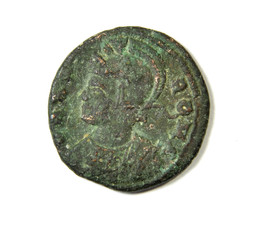 Ancient Roman coin. Allegory.