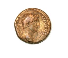 Ancient Roman coin. Emperor Hadrian.