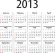 Solid calendar for 2013