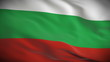 Highly detailed Bulgarian flag ripples in the wind. Looped