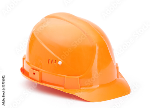 Orange hard hat, isolated on white background