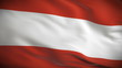 Highly detailed Austrian flag ripples in the wind. Looped