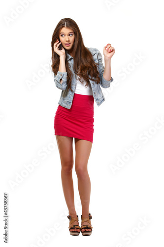 nice teenager making a call