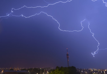 Flash of lightning  disrupts telecommunitation