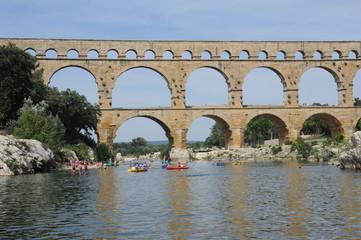 ponte romano Pont du Gard in Francia