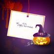 Vector Halloween Design with Halloween Pumpkin