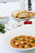 Gemüsesuppe mit Croutons