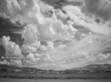 infra red photography landscape with dramatic sky