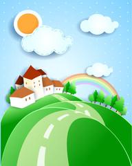 Countryside, fantasy illustration