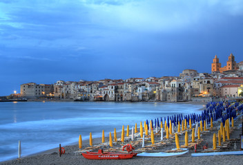 Evening light on Cefalu , Sicily