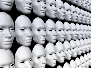 Sosia volto maschera carnevale no global