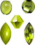 Peridot Bead and Gem Vectors