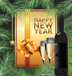 Happy new year elegant background