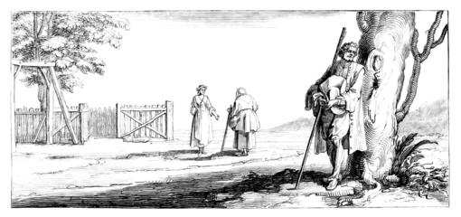 Peasants - Scene 17th century