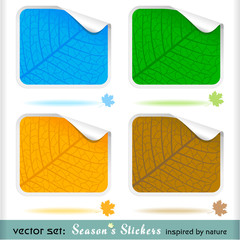 Premium  'Four Seasons'  Peeling Stickers