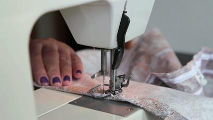 Nähmaschine bei der Produktion