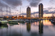 canvas print picture - Port Olimpic, Barcelona, Spain