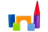 Colorful toy contruction plastic blocks