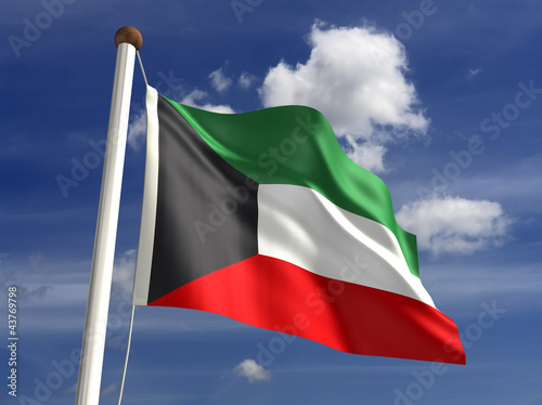 Kuwait flag (with clipping path)
